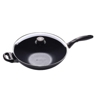 "Swiss Diamond Woks & Stir Fry 12.5"" Swiss Diamond Induction Wok with Lid and Tempura Rack JL-Hufford"