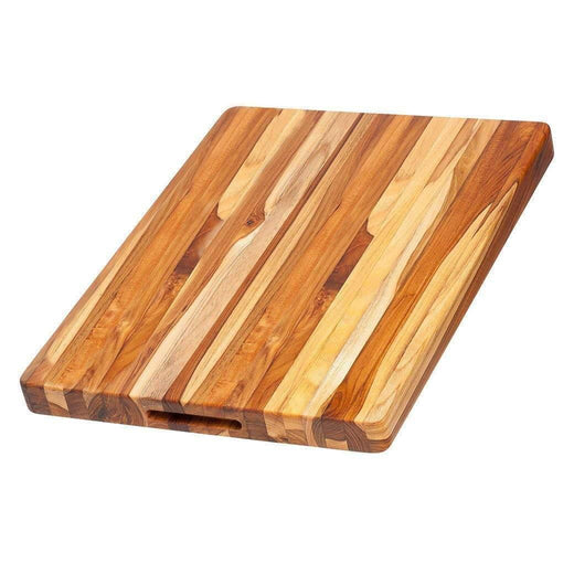 "TeakHaus Cutting Boards 20"" x 15"" x 1.5"" Proteak Edge Grain Carving Board with Hand Grip JL-Hufford"