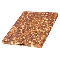 "TeakHaus Cutting Boards Proteak End Grain Carving Board with Hand Grips, 24"" x 18"" x 1.5"" JL-Hufford"