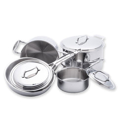 USA+Pan+Cookware+Sets+USA+PAN+-+8+Piece+5-ply+Stainless+Steel+Cookware+Set+JL-Hufford