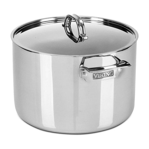 Viking Stockpots & Soup Pots Viking 3-Ply 12 Quart Stock Pot with Lid, Mirror JL-Hufford
