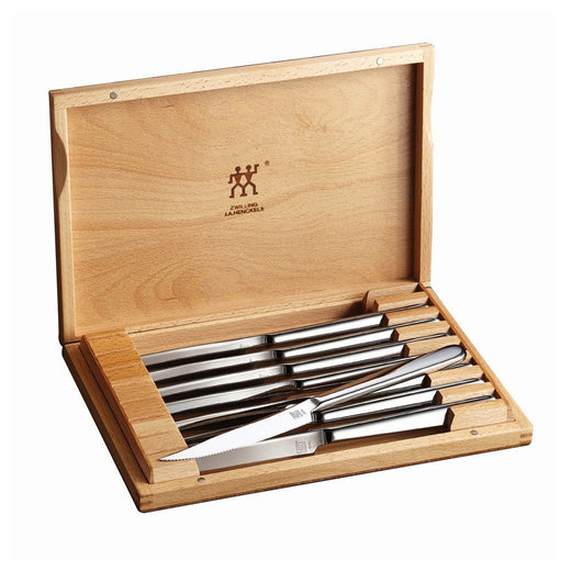 Zwilling J.A. Henckels Steak Knives & Sets Zwilling 8-piece Stainless Steel Knife Set with Wooden Case JL-Hufford