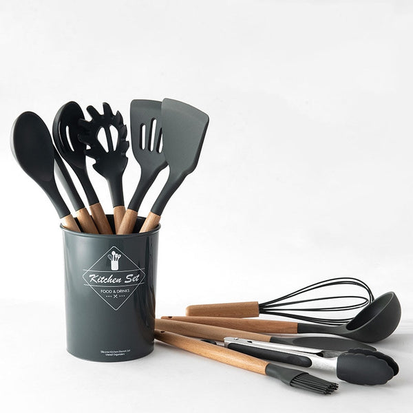 Cooking Utensils Set with Storage Box