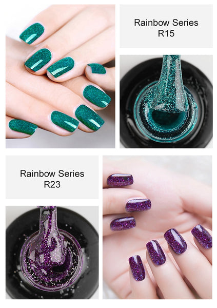Shimmer Rainbow Nail Gel Polish
