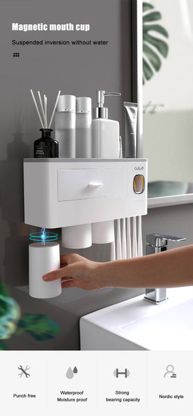 Automatic Toothpaste Dispenser With Cup Wall Mount