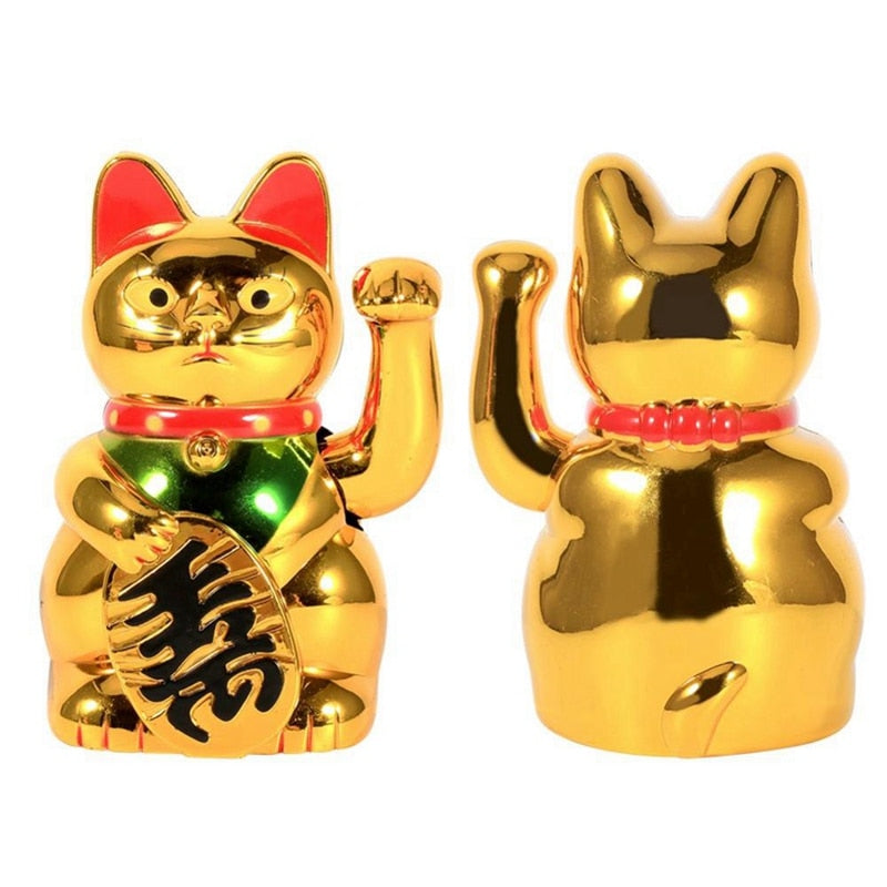 Large Gold Waving Cat
