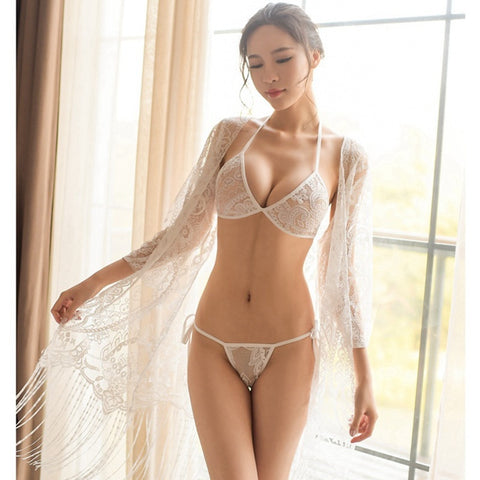 Hollow Bridesmaid Robes Bra