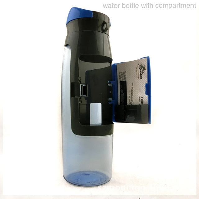 Water Bottle with Storage Pocket