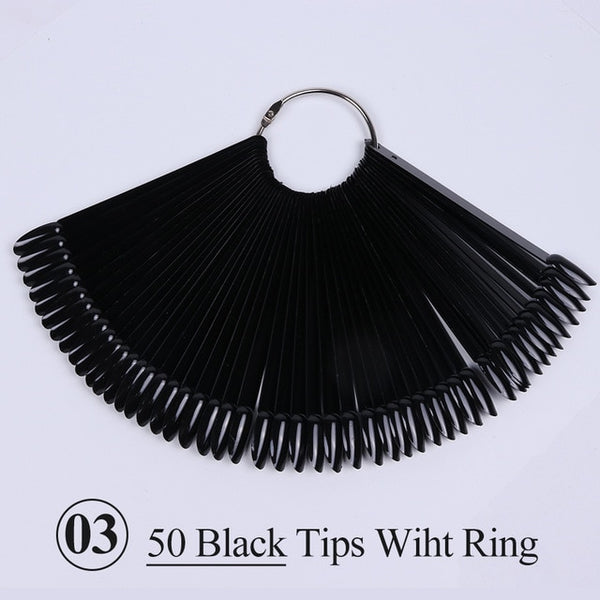 Black False Tips For Nail Art