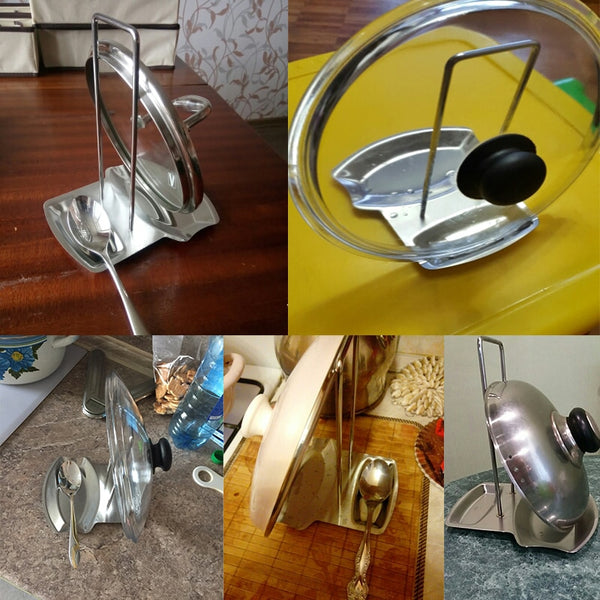 Stainless Steel Pan Pot Cover Lid Rack