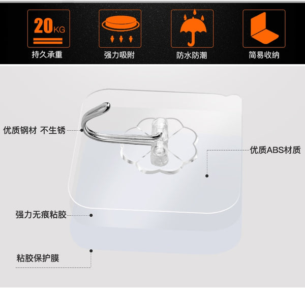 Transparent Strong Suction Hooks