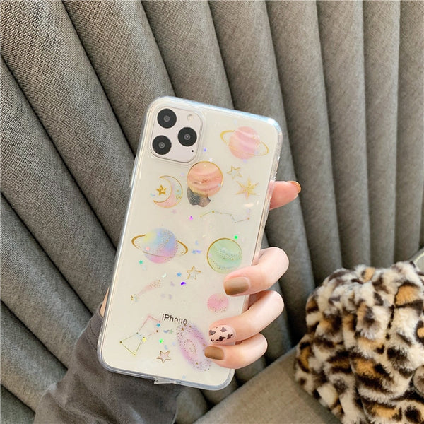 Bling Glitter Star Moon Universe Phone Case