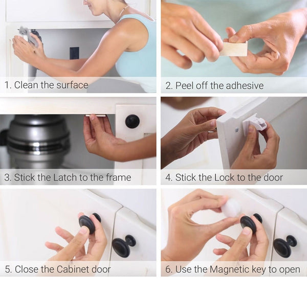 Magnetic Child Safety Drawer Lock