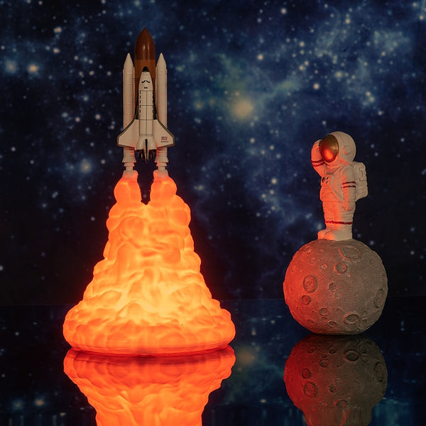 Rechargeable Space Shuttle Lamp