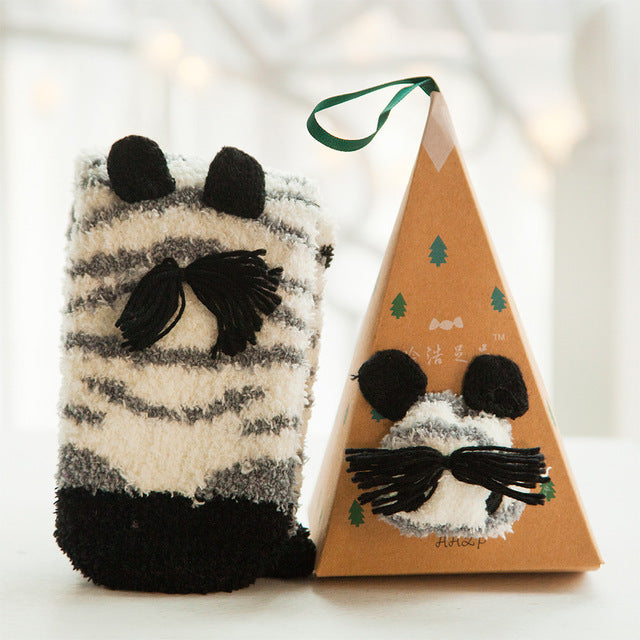 Cute Animal Design Deer Christmas Socks