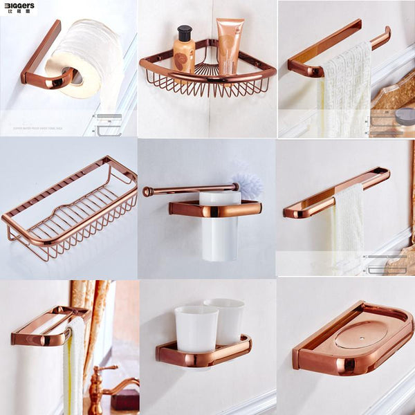 Luxury Rose Gold Bathroom Set
