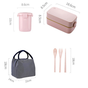 Japanese Bento Lunch Box With Tableware Set