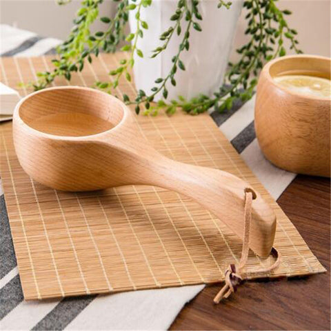 Long Handle Natural Wooden Rice Spoon