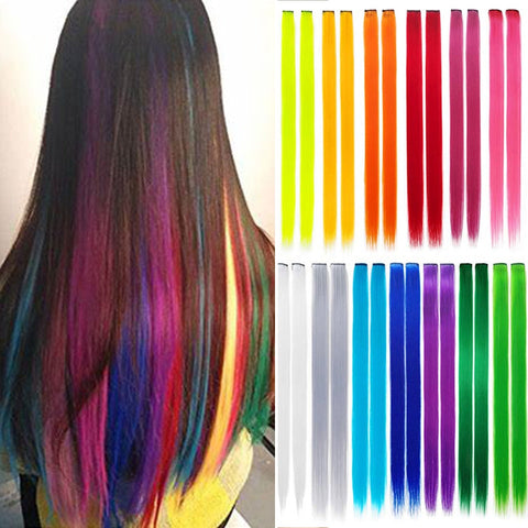 Rainbow Highlighted Hair