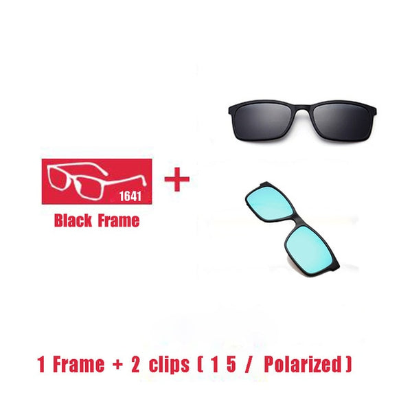 Polarized Magnet Clip Glasses