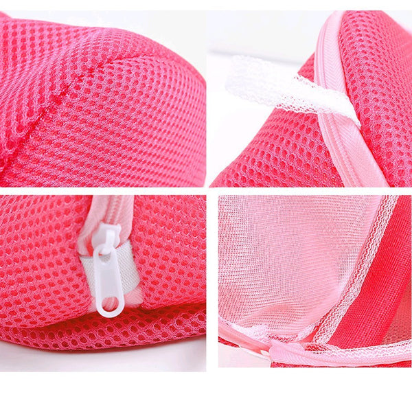Thickened Double Layer Zippered Mesh Laundry Bag