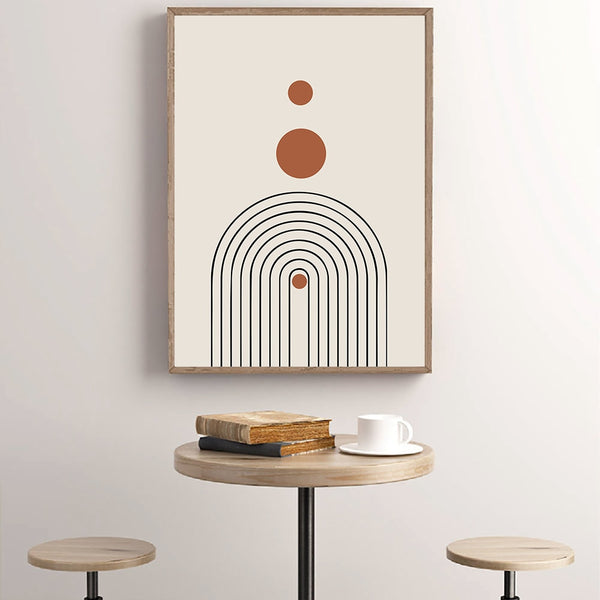 Mid Century Abstract Canvas Painting Poster