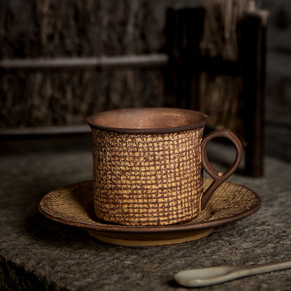 Primitive Textured Porcelain Coffee Cup