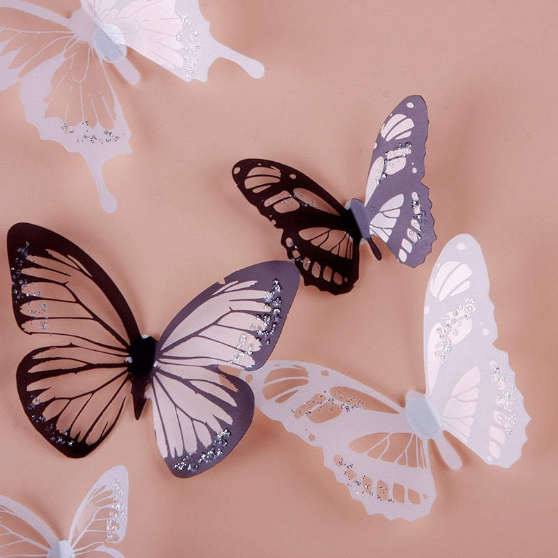 Crystal Butterflies Wall Sticker