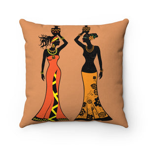 Fine Girl African Print Angle Throw Suede Square Pillow Case - Zabba Designs African Clothing Store