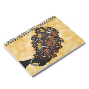 Mud Cloth  Headwrap Spiral Notebook - Ruled Line - Zabba Designs African Clothing Store