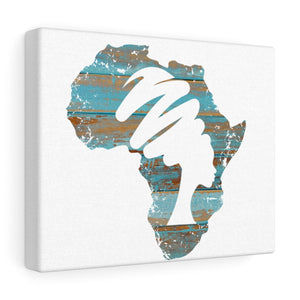 Mama Africa Blue Canvas Gallery Wraps - Zabba Designs African Clothing Store