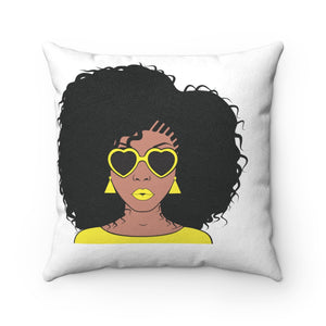 Daffodil Faux Suede Square Pillow - Zabba Designs African Clothing Store
