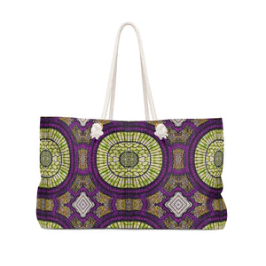 Purple Animal Print Weekender Bag