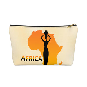 Map Of Africa Inspired Make up Pouch w T-bottom - Zabba Designs African Clothing Store