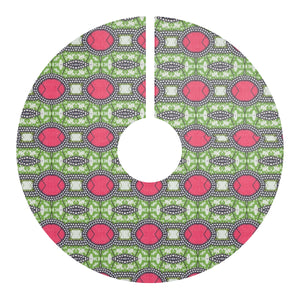 Pink Ankara African  Print Christmas Tree Skirt - Zabba Designs African Clothing Store