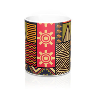 Liberia African Print Designer's  Coffee Mug - Zabba Designs African Clothing Store