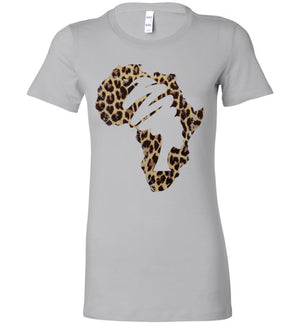 Mama Africa Ladies Perfect Tee Shirt Animal Print - Zabba Designs African Clothing Store