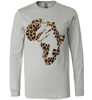 Animal Print Mama Africa Perfect  Long Sleeve T - Shirt - Zabba Designs African Clothing Store