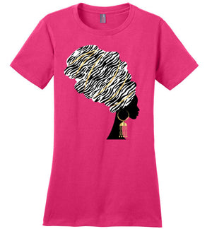Maja Headwrap Perfect T Shirt - Zabba Designs African Clothing Store