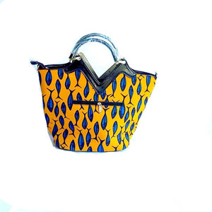 Macey Yellow African Print Tote Bag - Zabba Designs African Clothing Store