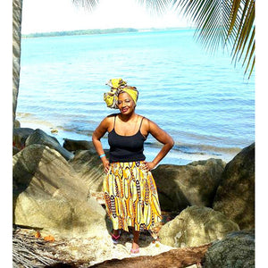 Edna HeadWrap And Jewelry Set - Zabba Designs African Clothing Store