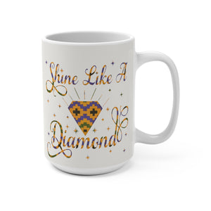 Shine Like A Diamond Designer's  Coffee Mug - Zabba Designs African Clothing Store