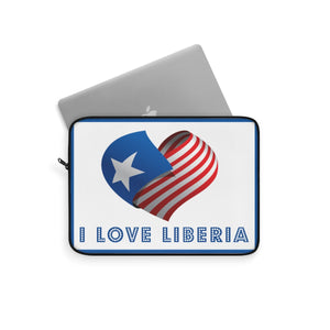 I Love Liberia Laptop Sleeve - Zabba Designs African Clothing Store