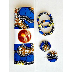 Kuti Blue Head Wrap - Zabba Designs African Clothing Store