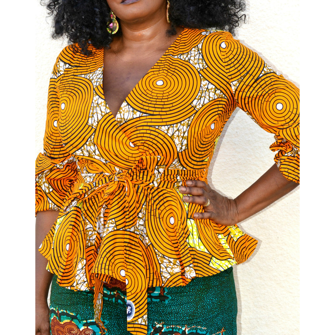 HATI African Print Peplum Top - Zabba Designs African Clothing Store