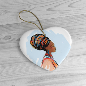 Blue Black Girl Magic Ceramic Ornaments - Zabba Designs African Clothing Store