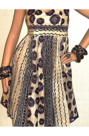 Ula Purple African Print Dress