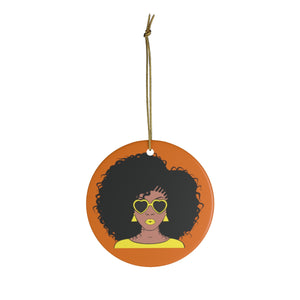 Venessa Yellow And Orange Ceramic Ornaments - Zabba Designs African Clothing Store