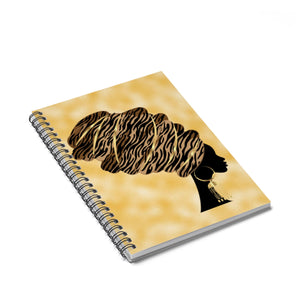 Queen Headwrap Spiral Notebook - Ruled Line - Zabba Designs African Clothing Store