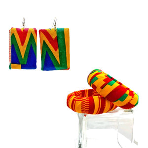 Handmade African Print Ethnic Earrings - Zabba Designs African Clothing Store